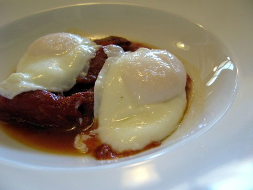 Boulette's - Poached Eggs with Roasted Tomatoes and Peppers