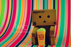 Delicious Popcorn! (Sock Hop Adoption Shop) Tags: house snow apple cake toy japanese miniatures robot amazon colorful doll action cone box manga popcorn kawaii figure sweets carnaval rement lollypop pretzel funnel yotsuba carmal danbo adayatthefair revoltech jfigure danboard