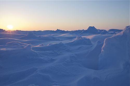 Landscapes on the frozen Arctic Ocean