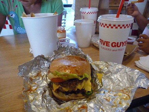 dinner at five guys.