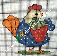 Gráfico de Ponto Cruz -galinha-04