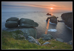 Land's End (Joe Rainbow) Tags: flowers sunset seascape canon landscape coast landscapes cornwall cliffs filter landsend granite lichen rainbowman singhray 5dmkii lightbeamarchnaturenaturalnatural
