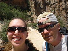 Clare & Barry at 6,160 ft on Bright Angel Trail