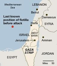 Mapa ataque Flotilha