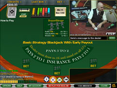 Live Blackjack Early Payout