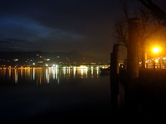 we were...we are/wir waren...wir... (l*aura**) Tags: blue sunset italy lake laura night landscape lago lights garda italia tramonto blu luci notte paesaggio salo