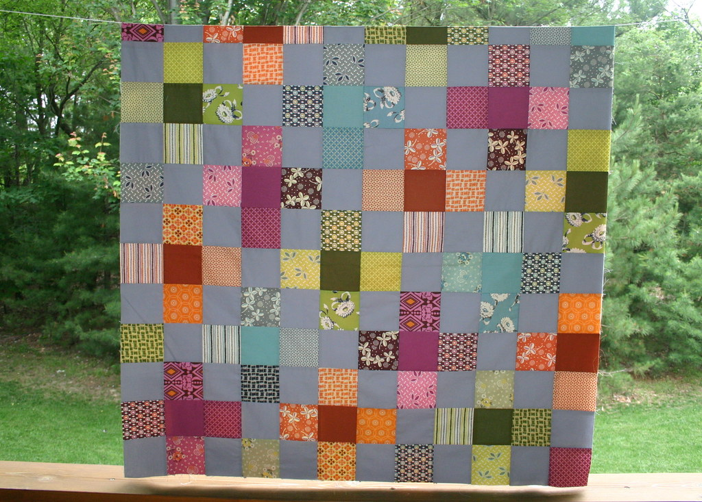 Flower Valley Quilt- growing