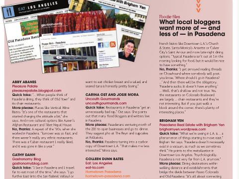 Gastronomy in Rose Magazine