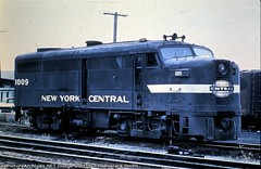 New York Central Railroad Alco FA-2 at Detroit Michigan circa mid 1960's. From the internet.