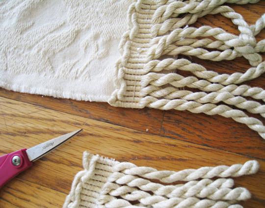 DIY fancy holiday tablecloth - 3