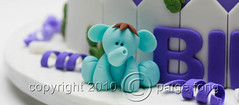 Evan's Cake - Elephant (Paige Fong) Tags: birthday animals cake children fondant gumpaste sugarpaste fiigurine