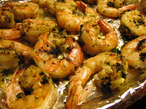 broiled shrimp with zhough