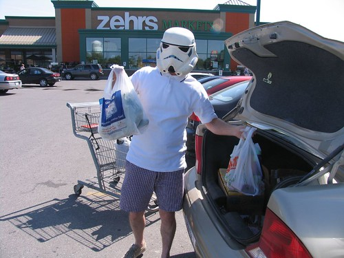Stormtrooper shopping....