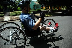 Handcycle ride wth Ian Jaquiss