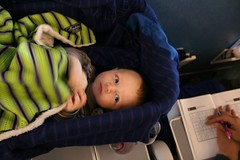 Airplane Bassinet (Maggie Mason (Mighty Girl)) Tags: baby airplane bassinet themighty hankmason henrymason