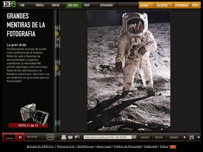 El EP3 duda del viaje del Apolo XI