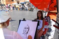 那佛納廣場(Piazza Navona)之街頭素描