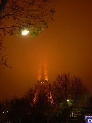 Eiffel Tower and the Fog