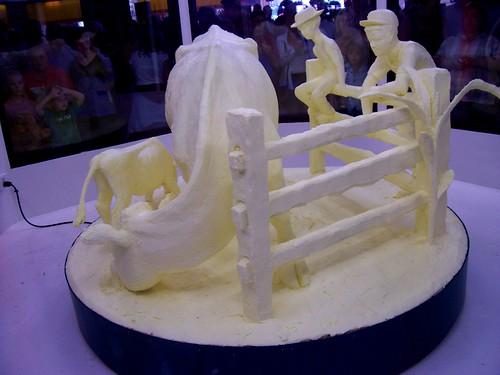Wide shot, Butter Sculpture