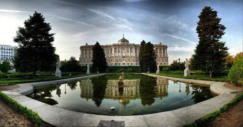 Madrid. Jardines de Sabatini.