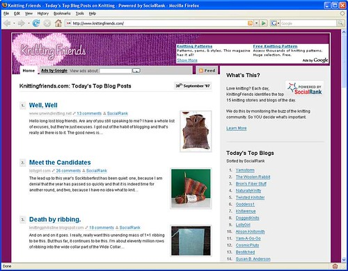 knittingFriends.com Screen Shot