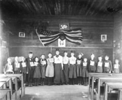 Interior of one-room school: Eastpoint, Florida