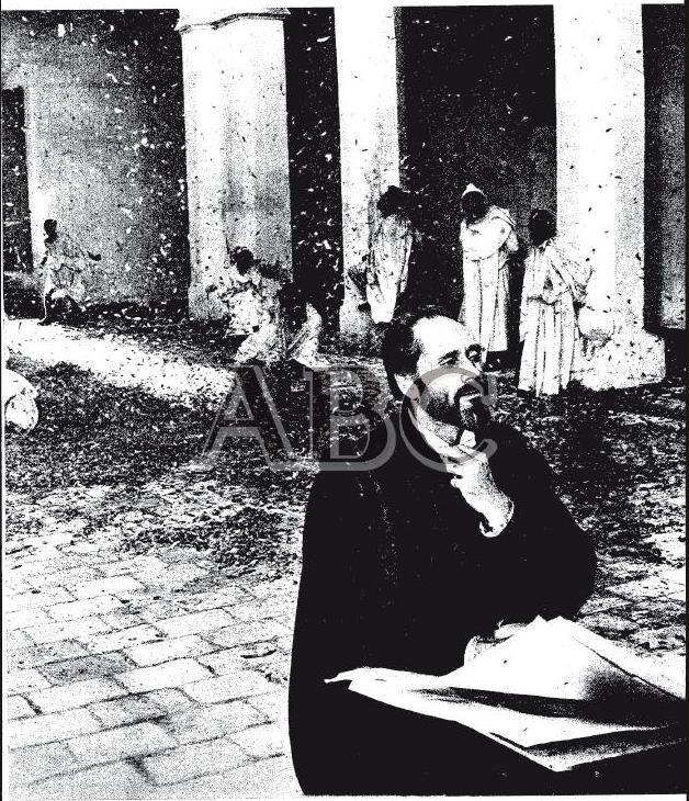Mel Ferrer en el Palacio de Fuensalida durante el rodaje de El Greco (1966)
