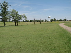 Blackmer Golf Course #6 (funny strange or funny ha ha) Tags: blue school 6 green tower oklahoma water reunion golf town memorial day all weekend small course number fabulous ok hooker panhandle 2010 blackmer