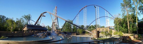 Cedar Point - Shoot the Rapids Panorama