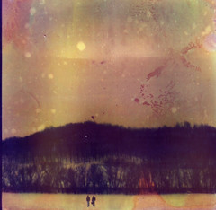 (Lauren Treece) Tags: snow polaroid sx70 heat damage expired emulsion