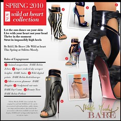 Stiletto Moody Spring 2010 Wild at Heart Collection (Stiletto Moody) Tags: leather cutout boot foot glamour toes toe bare kaleidoscope tattoos secondlife bow barefoot strap zipper peep python accessories ankle maryjane sculpted silverscreen bootie patent toerings animalmagnetism moodys anklechain nailpolishes stilettomoody footinshoe spring2010 wildatheartcollection superevolvedskyscraperheights sculpturalcutouts incrediblyhighheels beautytoes acceptnocopies