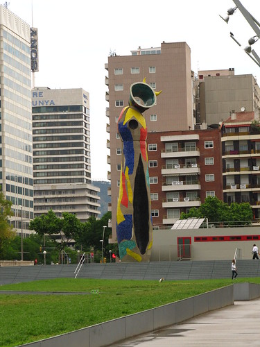 Joan Miro sculpture near Placa D'Espanya