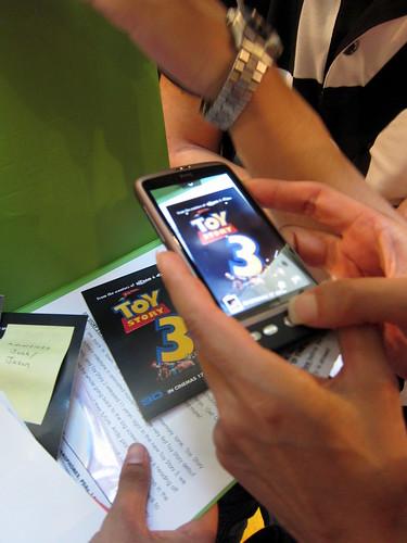 takin pic - HTC Desire