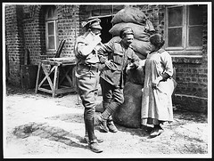 Learning the language, with the miller's daughter (National Library of Scotland) Tags: france war propaganda wwi great photojournalism daughters smoking worldwari worldwarone soldiers ww1 cigarettes talking greatwar firstworldwar flanders millers thegreatwar 19141918 warphotography photographicprints nls:dodprojectid=74462370 organization:library=nationallibraryofscotland owner:name=nationallibraryofscotland nls:source=solrxml blackandwhiteprintsphotographs worldwar19141918campaignswesternfront nls:dodid=74548154 nls:derivative=74406583