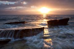 [フリー画像] 自然・風景, 夕日・夕焼け・日没, 海, 201006202300