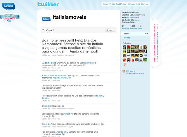 No dia do fechamento do concurso, o Twitter da Itatiaia já possuía mais de 1.000 seguidores.