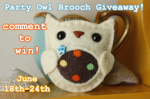 Party Owl Brooch Giveaway!
