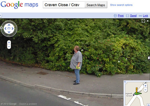 Fat Man Captured In Google Maps