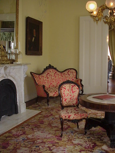 26 Possible Ghost Photograph In The Parlor Of Magnolia Hall   Natchez,  Mississippi