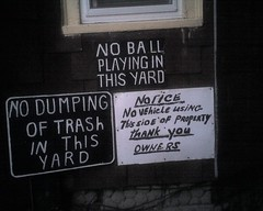 house signs (alist) Tags: sign ball treo notice alist dumping wdi robison alicerobison