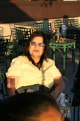 Rashida Jeffries (FrogMiller) Tags: sunset orange fun glasses wine drinking patio alcohol lawyers whitewine lawyer happyhour attorney settingsun rashida orangehill attorneys orangehillrestaurant ocbarristers