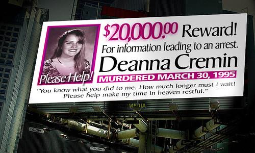 Deanna Cremin Murder | $20,000.00 Reward!