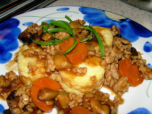 non-sizzling tofu