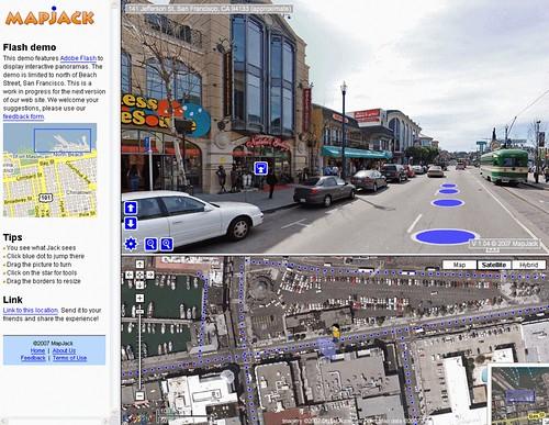 サンフランシスコの360度パノラマ地図MapJack