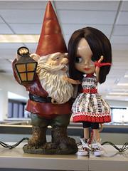 Hiya Baby! (sassybead) Tags: gnome blythe sabine ebony blythedoll
