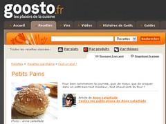 Dossier pains pour Goosto