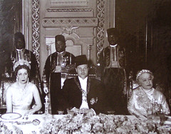 King ,Queen Mother and Sultana (Kodak Agfa) Tags: people history vintage 1930s egypt royal farouk 1940s 1950s egyptian mideast royalfamily kingfarouk