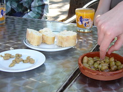 Olives and fresh Orange Juice