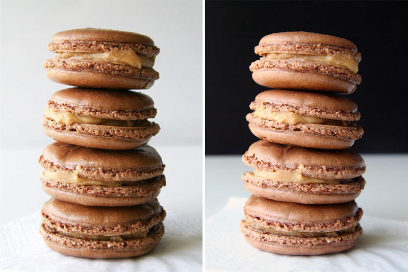 Chocolate Peanut Butter Macarons 2-in-1