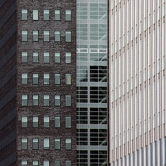 neighbours (brancolina) Tags: windows abstract lines architecture buildings reflections model geometry rules system difference repetition sideview mode faade rhythm dialogue frontside uniformity relations normality urbanspace abnormality livinginthecity brancolina realwithatasteofunreal visualmodality coordinatedexistence